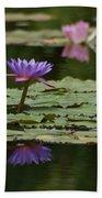 Purple Blossoms Floating Beach Towel
