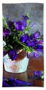 Purple Blues Beach Towel