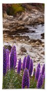 Purple California Coastline Beach Towel