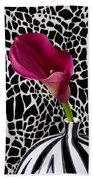 Purple Calla Lily Beach Towel