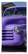 Purple Chevy Truck Beach Towel by Robert L Jackson