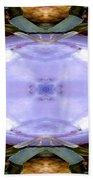 Purple Clam Shell Mandala Yantra Beach Towel by Marie Jamieson