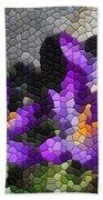 Purple Crocus Beach Towel