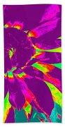 Purple Dahlia Pop Art Beach Towel