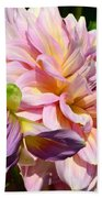 Purple Dahlia With Bud Beach Towel