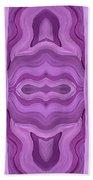 Purple Dreams Pattern Beach Towel