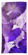 Purple Elephants Beach Towel