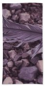 Purple Feather Beach Towel