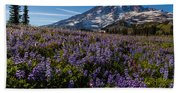 Purple Fields Forever And Ever Beach Towel