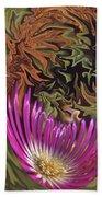 Purple Flower Abstract Beach Towel