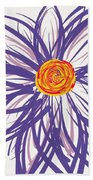 Purple Flower Beach Towel