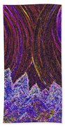 Purple Forest Moon Beach Towel