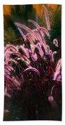 Purple Fountain Grass Fantasy Beach Towel