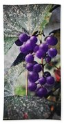 Purple Grapes - Oil Effect Beach Towel