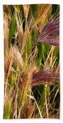 Purple Grasses Beach Towel