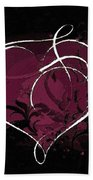 Purple Heart Of Passion Beach Towel