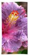 Purple Hibiscus Beach Towel