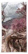 Purple Hills  Beach Towel