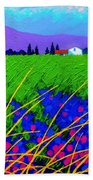 Purple Hills Beach Towel by John  Nolan