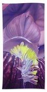 Georgia O'keeffe Style-purple Iris Beach Sheet