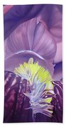 Georgia O'keeffe Style-purple Iris Beach Towel