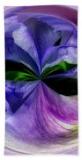 Purple Iris Orb Beach Towel