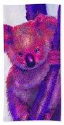 Purple Koala Beach Towel