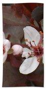 Purple Leaf Sand Cherry Burst Beach Towel
