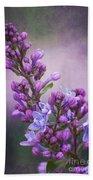 Purple Lilacs Beach Towel