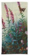 Purple Loosestrife And Watermind Beach Towel