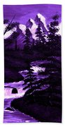 Purple Mountain Beach Towel