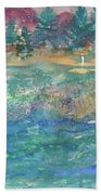 Purple Mountain Beach Towel