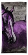 Purple One Beach Towel by Angel  Tarantella