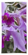 Purple Orchid Personality Beach Towel