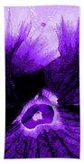 Purple Pansy Rising Beach Towel