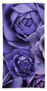 Purple Passion Rose Flower Abstract Beach Towel