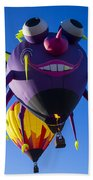 Purple People Eater And Friend Beach Towel
