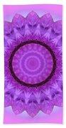Purple Pink Kaleidoscope Beach Towel