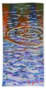 Purple Ripple Beach Towel