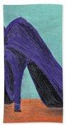 Purple Shoes Beach Towel