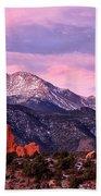Purple Skies Over Pikes Peak Beach Towel