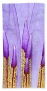 Purple Spires Beach Towel