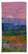 Purple Sunset On The Blue Ridge Beach Towel