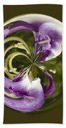 Purple Swirl Orb Beach Towel