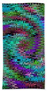 Purple Swirl Ripples Beach Towel