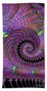 Purple Swirl Beach Towel
