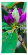 Purple Turtle Head Flower Beach Towel