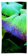 Purple Veins Beach Towel