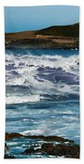 Purple Wave Beach Towel