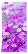 Purple Wildflower Beach Towel